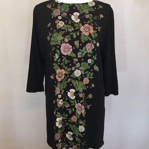 J Jill Tunic with floral panels size L